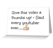 Youtubers!  Greeting Card