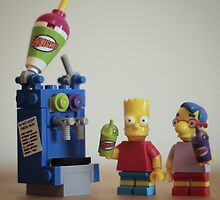 Lego Simpsons squished  by ajk92