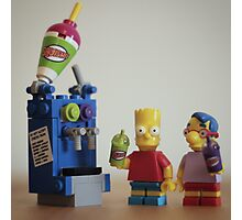 Lego Simpsons squished  Photographic Print