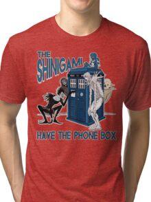 The Shinigami Have The Phone Box Tri-blend T-Shirt