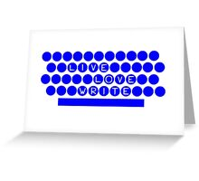 The TypeWriter Greeting Card