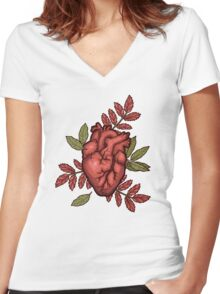 secret hearts Women's Fitted V-Neck T-Shirt