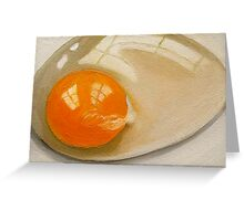 Raw Egg  Greeting Card
