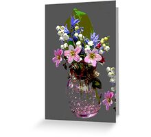 Spring Flowers Bouquet Greeting Card