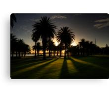 Sundown Riverside Drive Perth Canvas Print