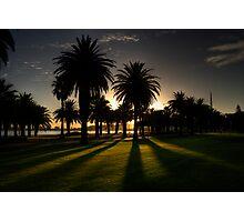 Sundown Riverside Drive Perth Photographic Print