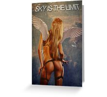 Sky is the limit girl wings Greeting Card