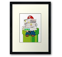 Mario on the Warp Pipe Framed Print