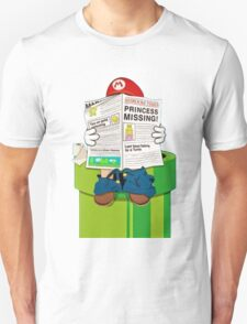 Mario on the Warp Pipe Unisex T-Shirt