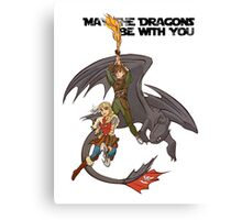 May the Dragons Be With You Canvas Print