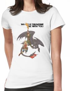 May the Dragons Be With You Womens Fitted T-Shirt