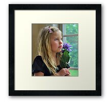 Window Portrait Framed Print