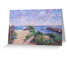 Along the Rhode Island Shore Greeting Card