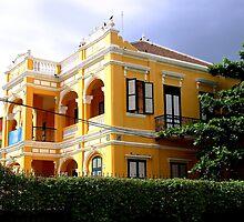 The Yellow House - Phnom Penh, Cambodia. by Tiffany Lenoir