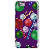 Xmas Balls Pattern Texture iPhone Case/Skin