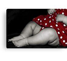 chubby baby legs Canvas Print