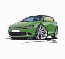 VW Scirocco (Mk3) Green T-Shirt
