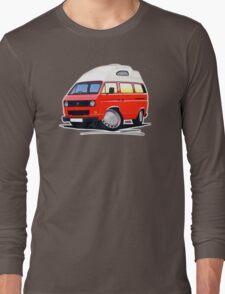 VW T25 / T3 (High Top) Red Long Sleeve T-Shirt