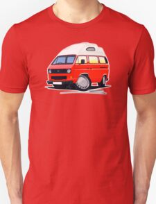 VW T25 / T3 (High Top) Red Unisex T-Shirt