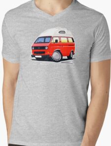 VW T25 / T3 (High Top) Red Mens V-Neck T-Shirt