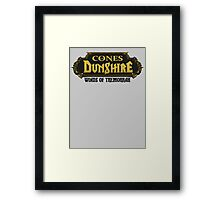 The Cones Of Dunshire Framed Print
