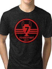 AC Milan 7 times Tri-blend T-Shirt