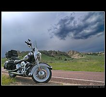 """Harley-Davidson at Hawk Springs, Wyoming"" by Don Bailey"