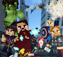 Minecraft The Avengers by Enriic7