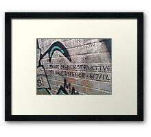 It's not self destructive - The Libertines Framed Print