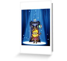 11th Doctor Cartoons Parody Greeting Card