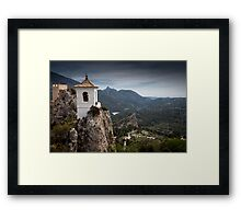 Guadalest bell tower Spain Framed Print
