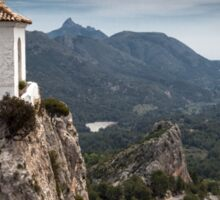 Guadalest bell tower Spain Sticker