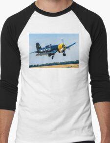 Goodyear FG-1D Corsair IV KD345 G-FGID cleaning up Men's Baseball ¾ T-Shirt