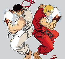 Ryu and Ken by dexpeq