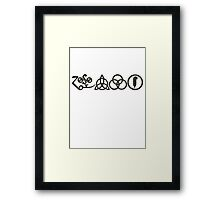 TRIQUETRA - the storm H Framed Print