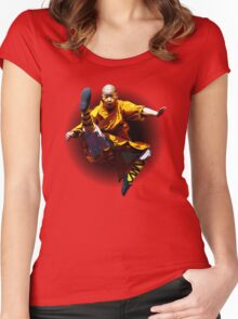 Shaolin Monk -Waaaaaaaaaaaaaah ! Women's Fitted Scoop T-Shirt