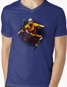 Shaolin Monk -Waaaaaaaaaaaaaah ! Mens V-Neck T-Shirt