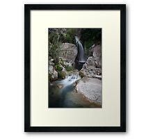 Algar waterfalls and rockpools Framed Print