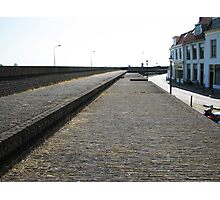 Wall protecting against the river Photographic Print