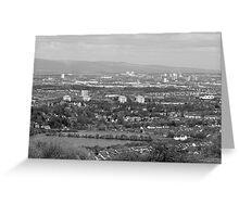 City Landscape of Glasgow, Paisley, Dunbarton Greeting Card