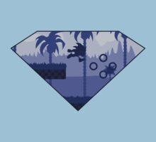 Minimalist Sonic the Hedgehog - Green Hill Zone T-Shirt