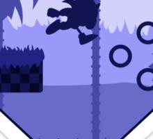 Minimalist Sonic the Hedgehog - Green Hill Zone Sticker