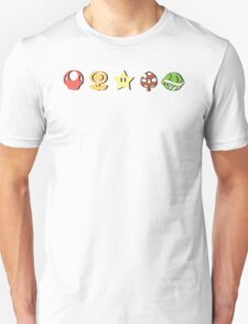 Coloured Mario Items (shadow) Unisex T-Shirt