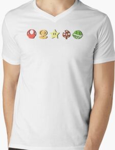 Coloured Mario Items (shadow) Mens V-Neck T-Shirt