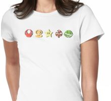 Coloured Mario Items (shadow) Womens Fitted T-Shirt