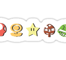 Coloured Mario Items (shadow) Sticker