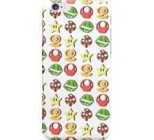 Coloured Mario Items (shadow) iPhone Case/Skin