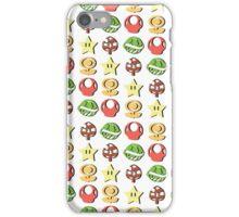 Coloured Mario Items (shadow) iPhone Case/Skin