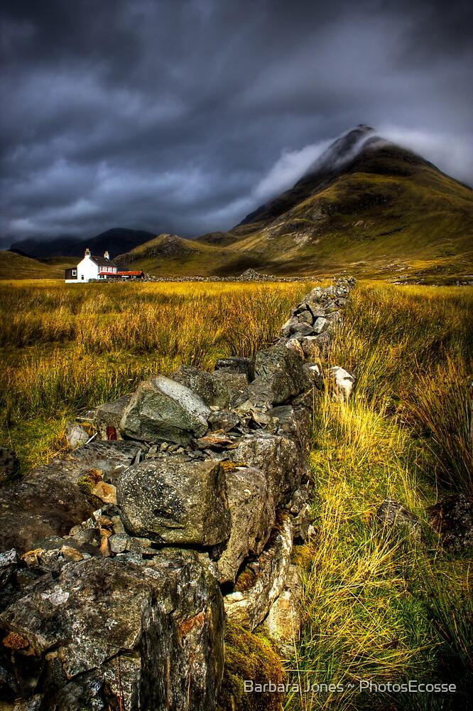 Camasunary Cottage and The Blaven ,Isle of Skye, Scotland. by photosecosse /barbara jones