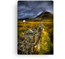Camasunary Cottage and The Blaven ,Isle of Skye, Scotland. Canvas Print